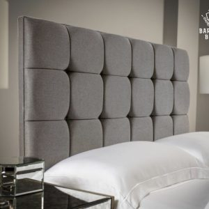cubed headboard grey