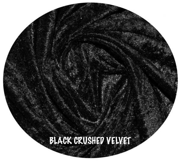 black crushed velvet