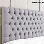 Silver Soft Velvet - Chesterfield Headboard