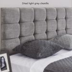 Steel light grey chenille – Roma headboard