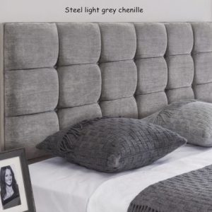 Steel light grey chenille - Roma headboard