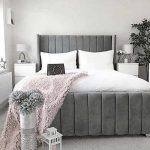 Flora Grey Wingback Bed
