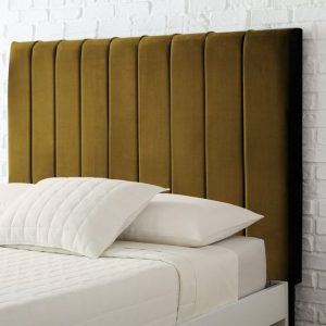 Bellaire Mustard Soft Velvet headboard